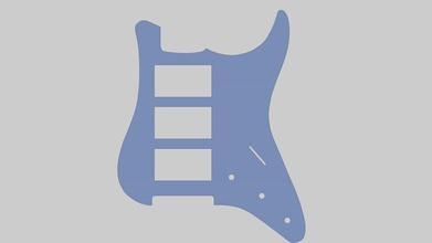 pickguard per chitarra mod st h-h-h 3d print model hobby-diy pickguard chitarra st h h h 3d print fender stratocaster pickup hobby diy hobby diy other
