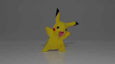 pikachu papercraft de la plantilla art escultura pikachu papercraft paperart lowpoly lowpolysculpture lowpolymodelling pepakura en la licuadora pokemon hobby diy la afición de bricolaje otros