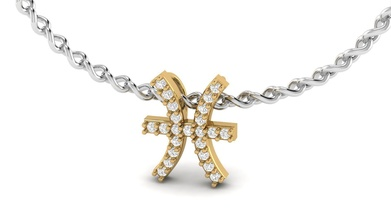 Peixes zodíaco diamante colar símbolo zodíaco pingente presente Peixes platina prata imprimível ouro moda amar anel diamante gema jóia brilhante horóscopo astrológico placa Virgem Escorpião joalheria