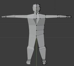 plain 3d model man standing gamemodel 3dmodel lowpoly test character games toys games toys