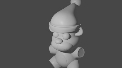 felpafreddy modelo Navidad creatividad hombre personas monocromo Arte Arte figura invierno Navidad desafío idea juguetón fnaf Freddy Navidad conceptual vertical inspiración resumen plastico juegos juguetes
