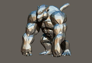 polygon kong art polygon low lowpoly lopoly kong animal manga dragonball goku oozaru toy monkey art papercraft sculptures