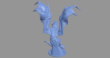 stampabile stl 164 drago 3d modello 3dmodel cg gioco di stampa 3dprint stampabile stl animale art la scultura carattere monster in miniatura sculture