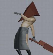 pyramid terror dude man pyramid head helmet silent hill movie videogames machete sword apron games toys games toys character fantasy