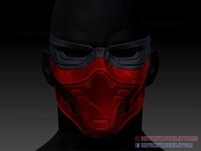 red hood mask dc comics cosplay red hood redhood red hood mask red hood dc comics red hood cosplay red hood helmet mask helmet cosplay costume halloween super heroes face mask protection human dc comics comic games toys games toys