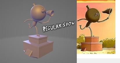 regular show pops rip statue games-toys art regular show regularshow pops popsmaellard rigby mordecai mordecaiandrigby toys 3d 3dprint printable printer 3dmodel 3d printer sculpture statue games games toys