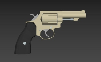 revolver gun model 3ds max file 3d print gun weapon pistol isolated danger security force protection bullet ammunition projectile bladed weapon ammo white close hazard cannoneer towed games toys games toys