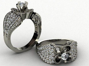 ring 3d print model flower gam jewelry amethyst ring emerald sapphire crystal gemstone ready jewel gem printable sterling brilliant engagem engagement ring finger diamond ring engagement cut silver jewelry rings