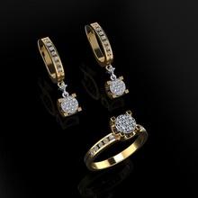 squillare orecchini 128 lusso elegante squillare gemma oro argento nozze diamante orecchino braccialetto collane pendente rinoceronte accessorio bellezza moda design cad gioiello gioielleria anelli