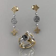 anel brincos 141 joalheria luxo elegante anel gema ouro prata Casamento diamante brinco pulseira colares pingente rinoceronte acessório beleza moda Projeto cafajeste jóia argolas