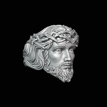 ring jesus sculpture head face statue jesus 3dprinting ring jewerelly gold printable art jewelry rings
