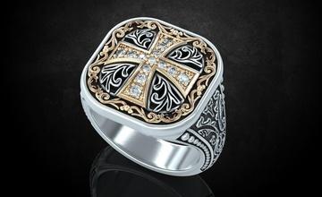 ring patterns cross ancient stylish 237 jewelry 3dprinted design fashion gold golden jewel jewellery jewelry print printabl printable printing prototyping ring rings silver patterns cross ancient stylish