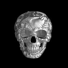 anillo cráneo cáscara estrella mar coral Oceano ostra mejillón mar anillo joyería oro plata joyería joya cráneo hombre esqueleto cabeza dientes masculino muerte remar anillos