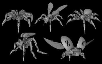 robot insects pack robot technology mechanical character 3d printing blender insects pack spider wasp mosquito beetle ladybug art mathematical mathematical art
