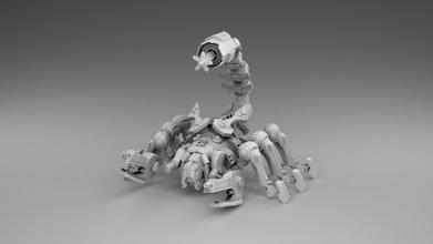 robô Escorpião Escorpião robô jogos máquina inseto arma fogo arma guerra arte 3d impressão impressão 3dprintmodel brinquedos jogos brinquedos