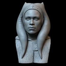 Rosario Dawson ahsoka Tano Rosario Dawson ahsoka Tano Mandalorianer Star Kriege Büste Charakter 3dprinting realistisch Kunst Skulptur Porträt Ähnlichkeit Sidnaique Skulpturen