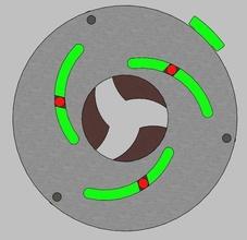 rotante iris mechanism 3 lame 3d Stampa iris meccanismo meccanico lama foglia ingegneria scatola arte porta finestra apparecchio legna laser robot passatempo Fai passatempo Fai parti meccanico