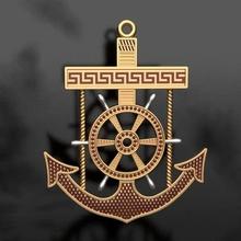 marinero colgante pendiente timón oro joyería joya símbolo marinero collar colgante pendiente Moda mar timón joya hombre Embarcacion plata colgantes