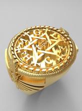 Salomons anel joalheria ouro elegante arte Salomão serpente david Estrela anjo anel prata proteção argolas