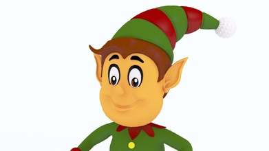 Papa Noel Clauz duende 1 Papa Noel Clauz duende Arte divertido niño lindo personaje Navidad loco hada cuento retro 3d imprimible juegos juguetes juegos juguetes