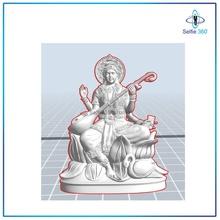 saraswati idole 3d imprimable modèle 3d impression 3dprint miniature 3dscaning 3ddesign 3dart 3dmodeling 3dgodmodel Dieu Krishna sculpture mural statue saraswati art sculptures