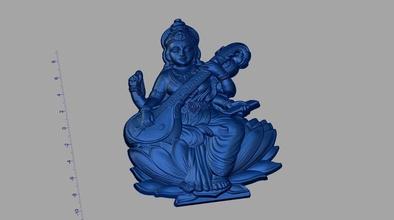 saraswati ji art hindou saraswati Dieu atcam artcam sculpture Foi l'amour confiance