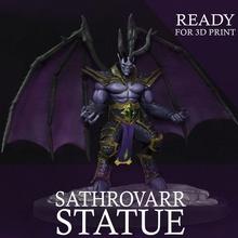 sathrovarr statue 3d print sathrovarr wow warcraft 3d model sculpture statue character demon vampyr fantasy fictional creature mmorpg 3d print nathrezim art sculptures