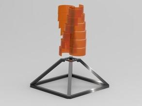 Savonius Rotor Tetrader Ausführung vertikales Energie erneuerbare windenergie Windrad Energie Grün Windmühle Rotor Savonius Spiral Hobby DIY Hobby DIY Elektronik