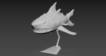 Meer Diebe Megalodon 3d Modell 3d Drucken Seaftieves Spiel Beute 3dprinting 3dprint 3d Modelle Modelle Spiele Spielzeuge Spiele Spielzeuge Megalodon Hai Riesenhai Meer Ozean Monster