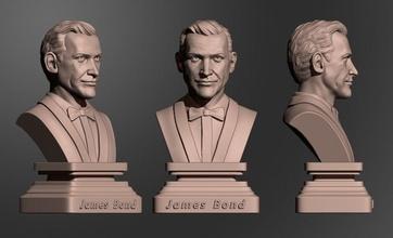 sean connery james bond connery bond 007 actor 3dprint 3dprintredy art sculptures