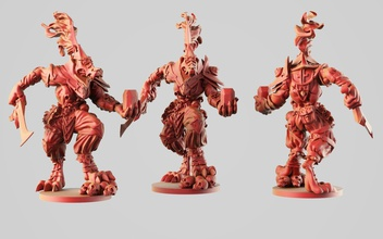 sha wolfman games-toys sha wolfman litch confrontaiton warhammer dungeon dragons rpg monster advanced wolf armor mmorpg mmo creature fantasy miniature figure action games toys games toys other