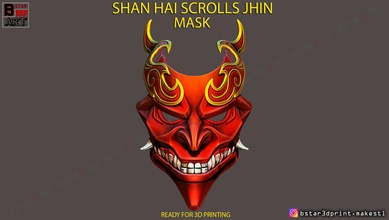 shan hai scrolls jhin mask - jhin god - league legends jhin mask jhin helmet jhin god mask jhin scrolls mask shan hai scrolls mask shan hai jhin league legends mask mask cosplay costume toys jhin cosplay jhin hannya mask skull mask devil mask satan mask games games toys game accessories game accessories