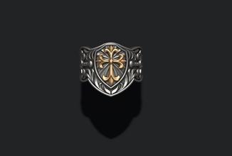 sello anillo cruzar hombre plata joya Boda detallado vray joyería joya sello ornamento cruzar religión cristiano Cristo religiou objeto judío cristiandad Nazaret Jesús joyería colgantes