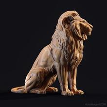 sentado leão leão Leo impressão estátua escultura sentar animal antigo tigre estatueta monumento baixar leopardo Cairo Kasr el preocupações imprimível Puma arte esculturas