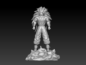 songoku ss3 - dragon ball songoku ss3 dragon ball statue game anime art sculptures