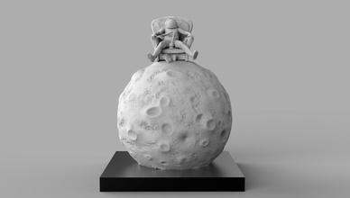 astronauta Luna bong 3d impresión diorama espacio Luna ciencia fi vivo habitación futurista Embarcacion astronave Apolo ciencia ficción estrella juegos juguetes juegos juguetes