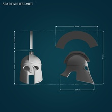 spartan helmet helmet sparta spartan thisissparta 300 armor printable 3dprint helm protection lowpoly highpoly printready cosplay games toys games toys