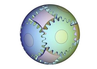 sfera Ingranaggio t20d34 sfera palla Ingranaggio smussatura meccanismo meccanico ingegneria sferica palla forma robot pignone Giochi giocattoli Giochi giocattoli