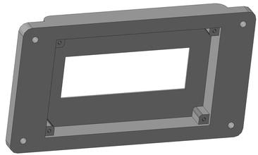 spi i2c lcd 2004 panel mount diy electronics technology device arduino diy lcd spi i2c 2004 lcd2004 mountpanel 3dprinter 3d lcdcover cover hobby hobby diy