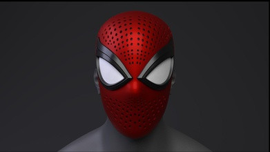 spider-man ps4 advanced suit faceshell 3d printable art spider man advanced suit faceshell 3d printable marvel art other