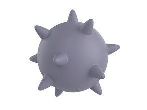 spike ball spike ball print toy corona covid 19 cartoon prop thron prick stl ztl obj model game bomb virus games toys games toys accessories game accessories