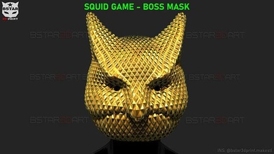 squid game mask - boss mask cosplay bstar3dprint polygon mask mask squid game polygon squid mask squid game mask accessories toys costume clone mask no29 mask waiter mask waiter squidgame mask man mask boss mask squid game boss mask squid game boss games games toys