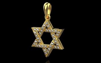 Estrela david Estrela david pingente judeu judaico ouro rosa prata gema Ciência joalheria diamante anel brilhante pingente colar argolas