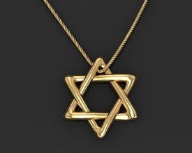 Estrela david 3d impressão modelo Estrela david judaísmo Jerusalém joalheria estômago Magendavid Israel judaico judeu Herodes jesu Bíblia objeto judaico Gólgota nazareth hebraico pingentes israelita