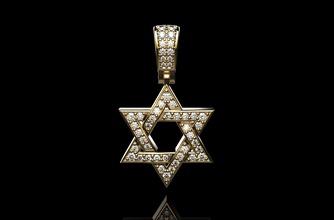Estrela david diamante pendente 18k ouro diamante moda gema jóia joalheria prata esterlina brilhante amarelo 18k pingente Estrela david safira rubi beleza Casamento colar pingentes joalheria