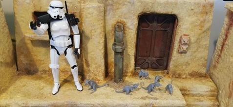 estrella guerras escurridizo criaturas 3 poses guerra Galaxias corredores criaturas criaturas tatooine Jedi fantasía ficticio criatura Moseisley juegos juguetes juegos juguetes