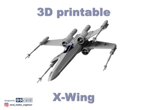 star wars x-wing 3d printable star wars wing rebells 65 xwing starwars sifi space jedi pilot starship movie scalemodel 3dprinting 3d science fiction spaceship diy hobby hobby diy