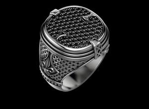 stylish ring patterns diamonds onyx 516 3dprinted design fashion gold golden jewel jewellery jewelry print printabl printable printing prototyping ring rings silver stylish patterns diamonds onyx stylish patterns diamonds onyx