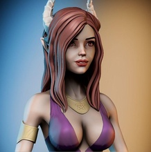 succubus woman sexy girl pretty pinup figure erotic body breast sculpture statue character super games toys art sculptures