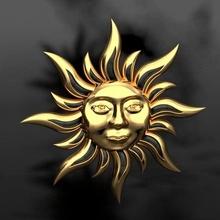 Dom colgantes 3d modelo Dom cara sol colgante pendiente joyería joya Luna simbólico plata collar medallón amuleto simbolos mujer Moda imprimible joyería joya colgantes